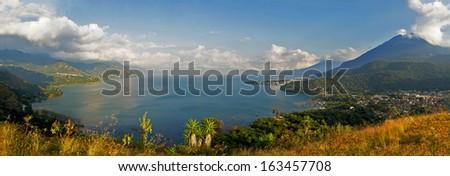 Vulcano Lake Atitlan - stock photo