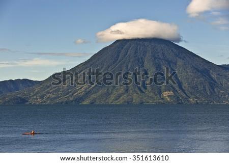 Vulkan in Guatemala - stock photo