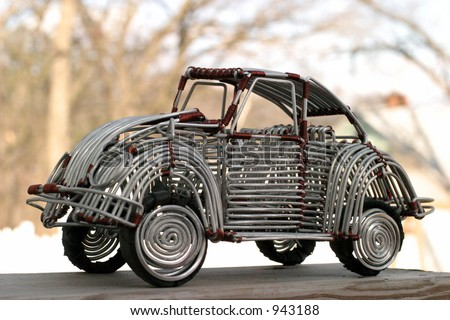 VW Beetle Toy Handcrafted Wire Opening Stock Photo (Edit Now ...