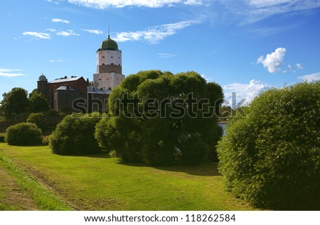 Vyborg Castle dating from the 13th century