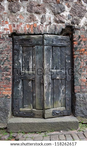 Vyborg Castle door dating from the 13th century