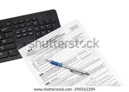 independent contractor tax form w 9