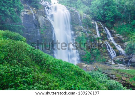 Wachirathan waterfalls, Doi Inthanon National Park Thailand