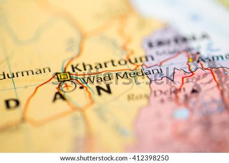 Wad Medani Stock Images RoyaltyFree Images Vectors Shutterstock - Wad madani map