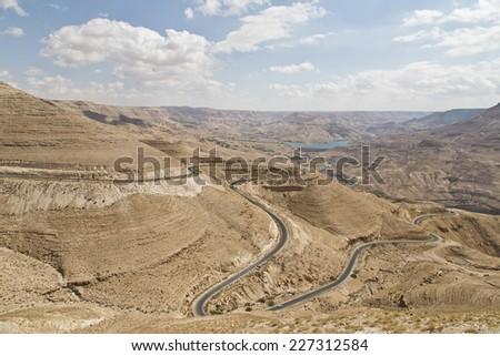 Wadi Al Mujib - stock photo