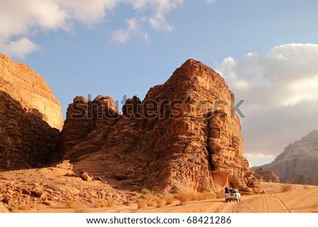 Wadi Rum desert, Jordan. - stock photo