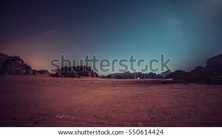 Wadi Rum valley in Jordan