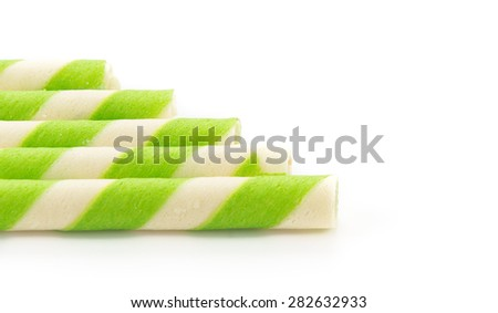 wafer stick on white background