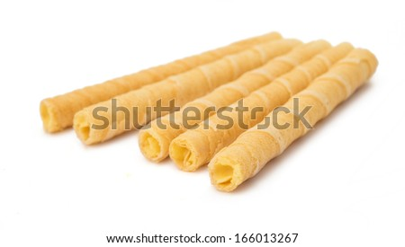 wafer sticks isolated on white background