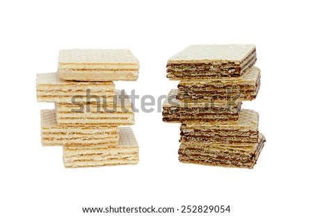 wafers the isolated - stock photo