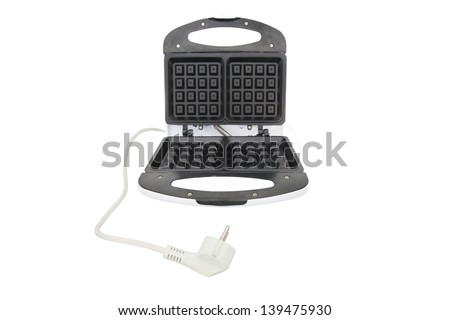 waffle iron under the white background