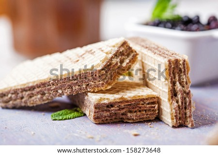Waffles - stock photo