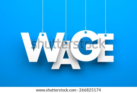 Wage - stock photo