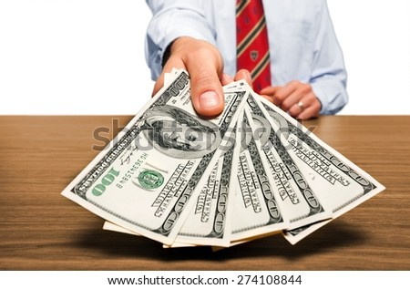 Wages, Benefits, Paying. - stock photo