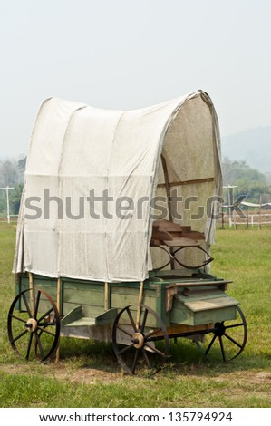 Wagon western style. - stock photo