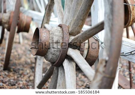 Wagon wheels - stock photo