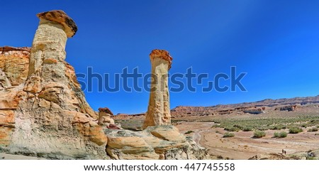 Wahweap Hoodoos - stock photo