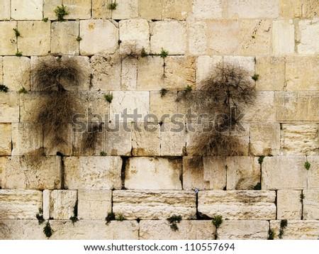 Wailing Wall and Al Aqsa Mosque, Jerusalem, Israel - stock photo