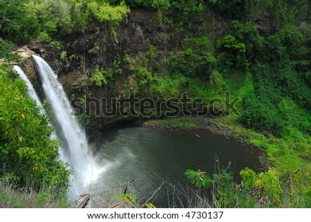 Wailua Waterfall on Kauai, Hawaii