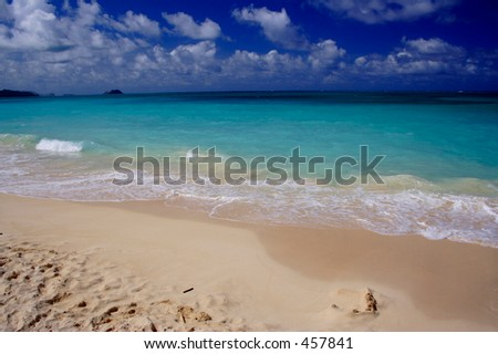 Waimanalo Beach, Oahu - stock photo