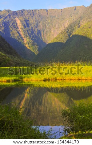 Waimanu Valley Portrait - stock photo