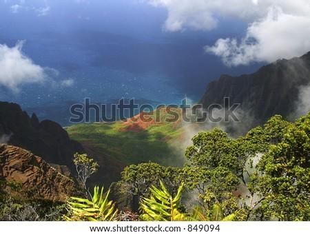 Waimea Canyon, Kauai Hawaii - stock photo
