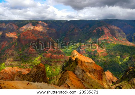 Waimea Canyon on the island of Kauai, Hawaii