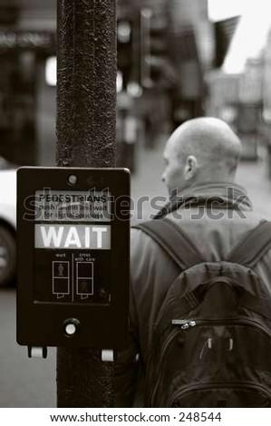 wait! - stock photo
