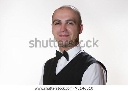 Waiter portrait - stock photo