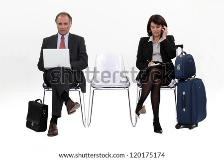 Waiting for an interview. - stock photo
