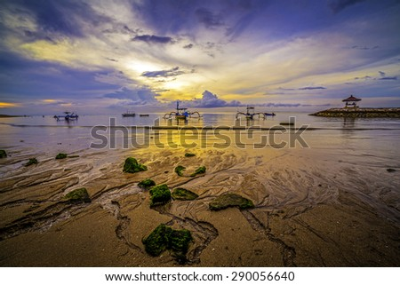 Waiting for sun come up from the fisherman village  - stock photo