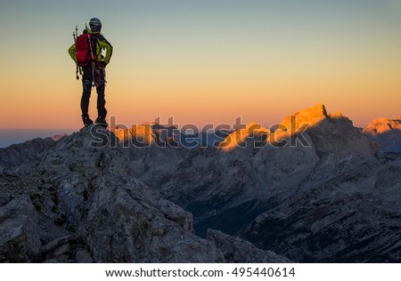 Waiting for sunrise. Julian Alps, Slovenia, Europe.