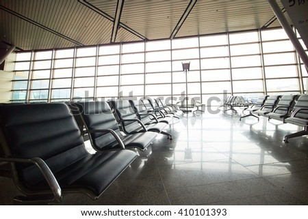 waiting hall at airport
