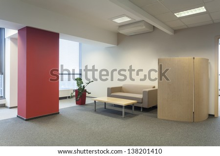 Waiting room in a modern office interior - stock photo