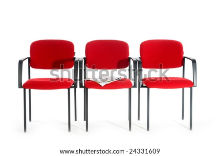 Waiting room in hospital or by the doctor - stock photo