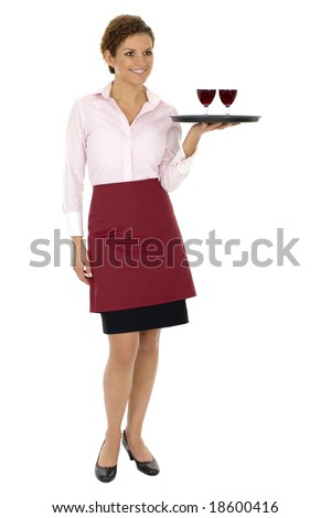 Waitress - stock photo