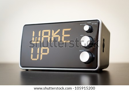 Wake Up Alert / Clock - stock photo