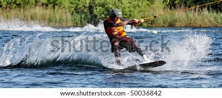 Wakeboarding - stock photo