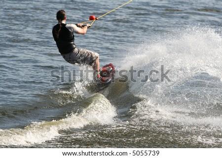 Wakeboarding - Behind the Wake - stock photo
