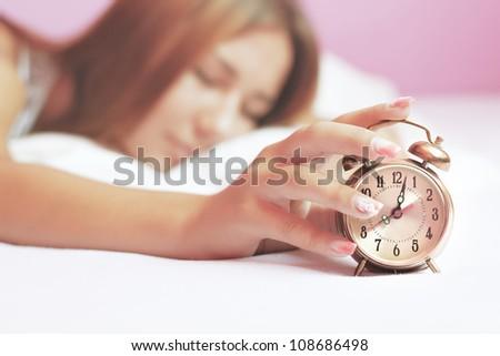 Waking up - stock photo