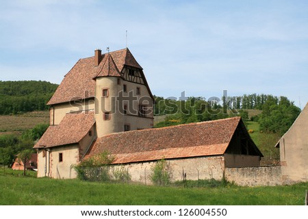 Walbach castle in the Munster valley in Alsace
