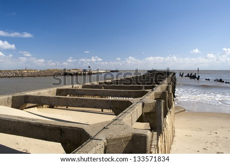 Walberswick Harbour, near Southwold, Suffolk, England, on a sunny day
