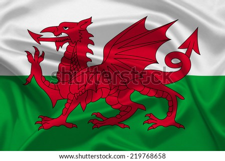 Wales flag - stock photo