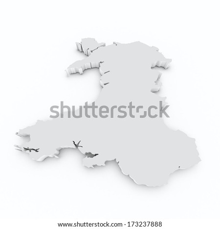 Wales grey on white isolated - stock photo
