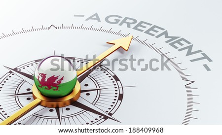 Wales High Resolution Agreement Concept - stock photo