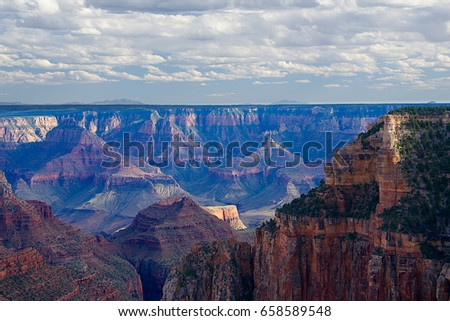 Walhalla Overlook at the North Rim of the Grand Canyon, Arizona
