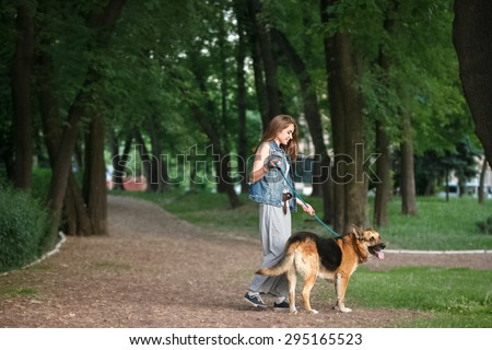 walk in the park with a dog