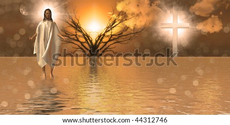 Walk on Water - stock photo