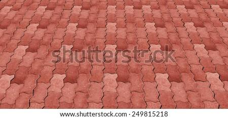 Walk side street floor tiles. Background - stock photo