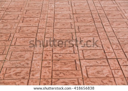 Walk side street floor tiles Background - red pattern